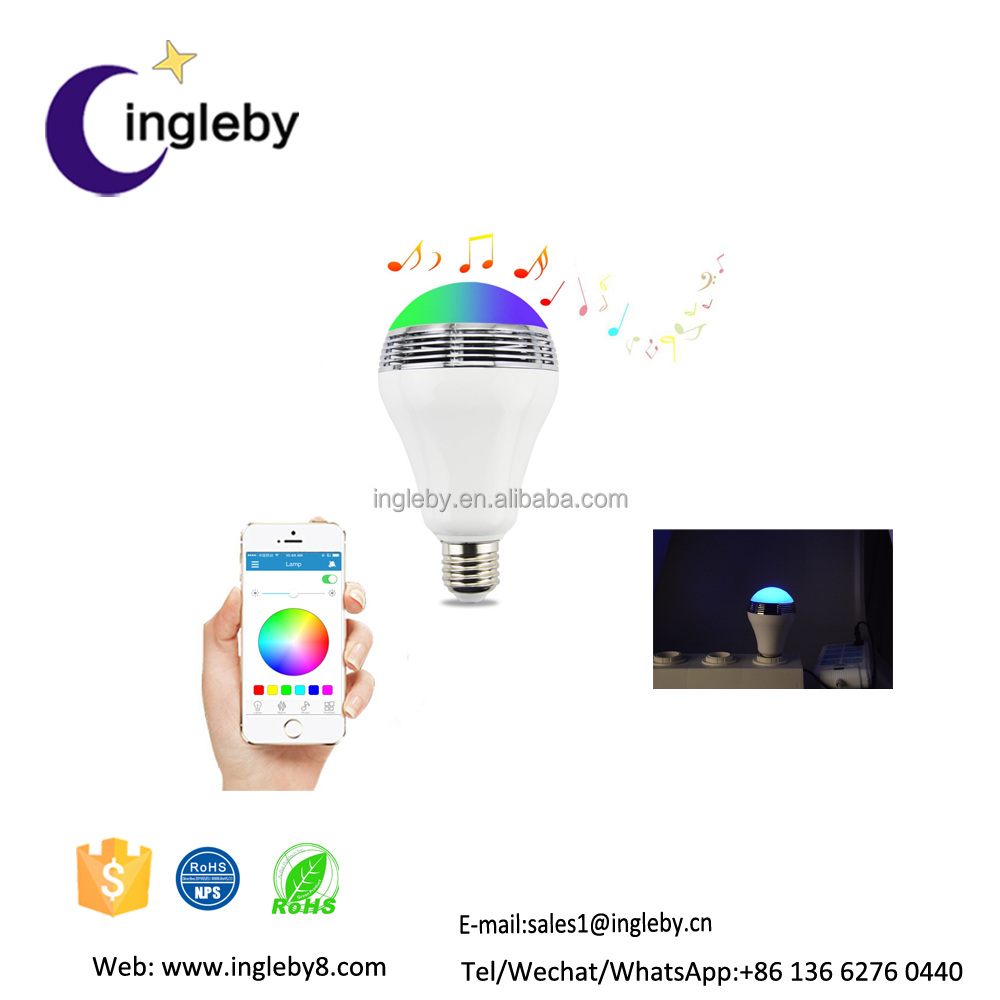 alarm clock and remind sleep assistant 2017 new arrival hot sell wireless led smart bulb