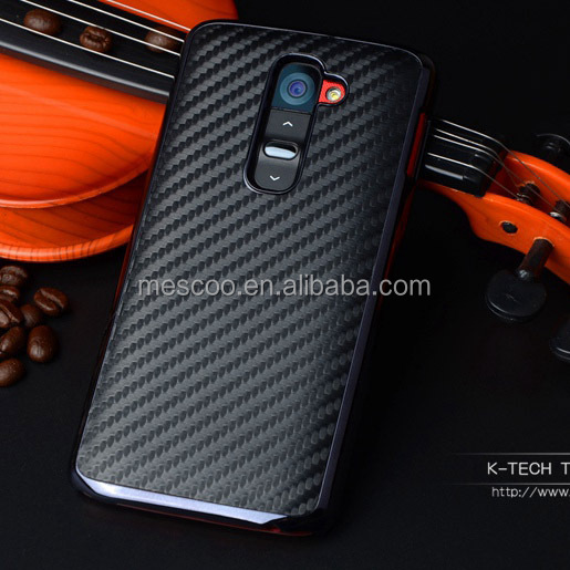 FOR LG G2 Luxury Carbon Fiber Chromed Edge Hard Case For LG Optimus G2 D802 Plastic Mobile Phone Protective Cases Back Cove