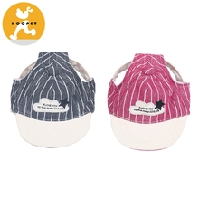 Wholesale Pet Accessories Puppy Dog Clothes Knit Vertical Stripes Dog Hats