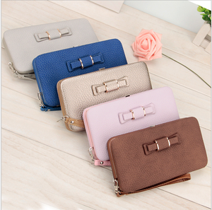 Multicolor PU leather ladies wallet ladies hand pouch ladies leather wallet with change purse