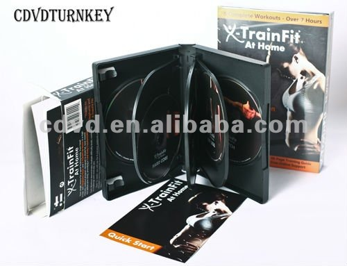 Yoga DVD packed in 8 discs DVD amaray case
