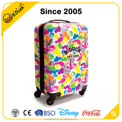 Novelty design trolley luggage travel bags animal printing travel luggage wholesale