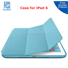 Factory Price Smart Cover Leather Flip Case for iPad 6 iPad Air 2