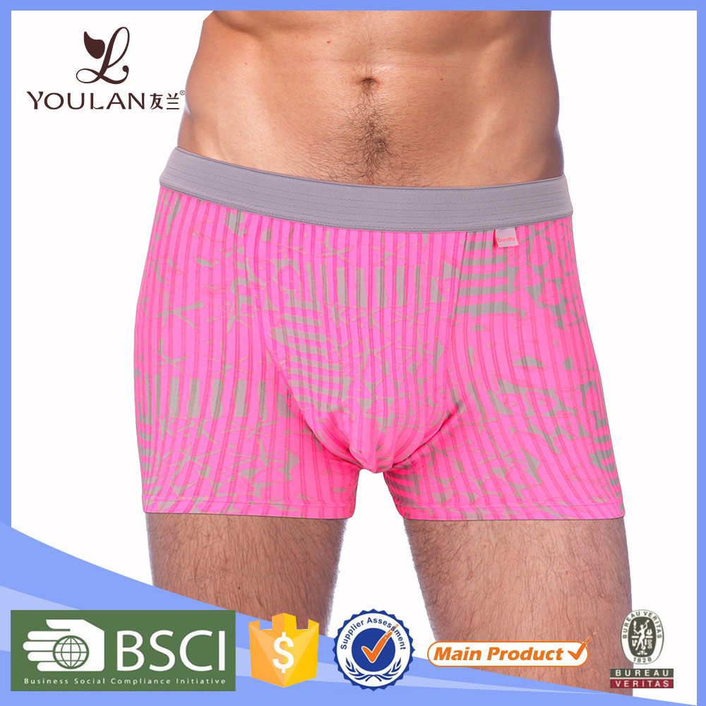 China Wholesale Delicate Customized Materials Dropping Shipping Front Open Mens Underwear Boxer