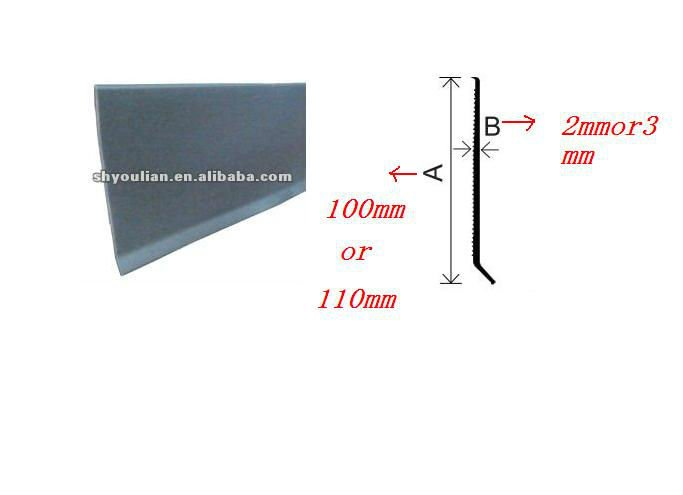 rubber baseboard molding flexible skirting