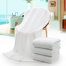 Wholesale Stock White Thick Pure Cotton Bath Towel Luxury Hotel Towel for Sale