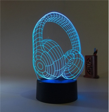 Creative 3D Led table lamp colorful Acrylic visual touch switch remote control 3D night light