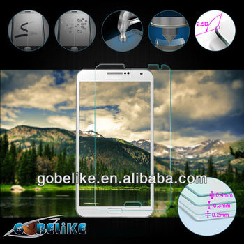 Latest tempered glass screen protector for Galaxy note 3 oem/odm Factory
