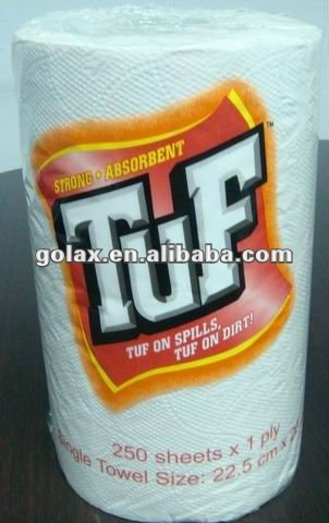 single ply virgin wood pulp paper hand towel