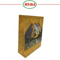 Factory wholesale kraft paper gift bag hair extension packaging bags custom logo print shoping craft paper bags