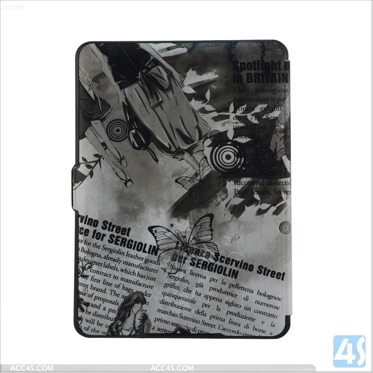 Shenzhen Factory Slim Leather Case for Kindle Paperwhite P-AMZPAPWPUCA001