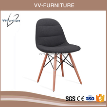 2017 hot wholesale wooden design fabric dining chair