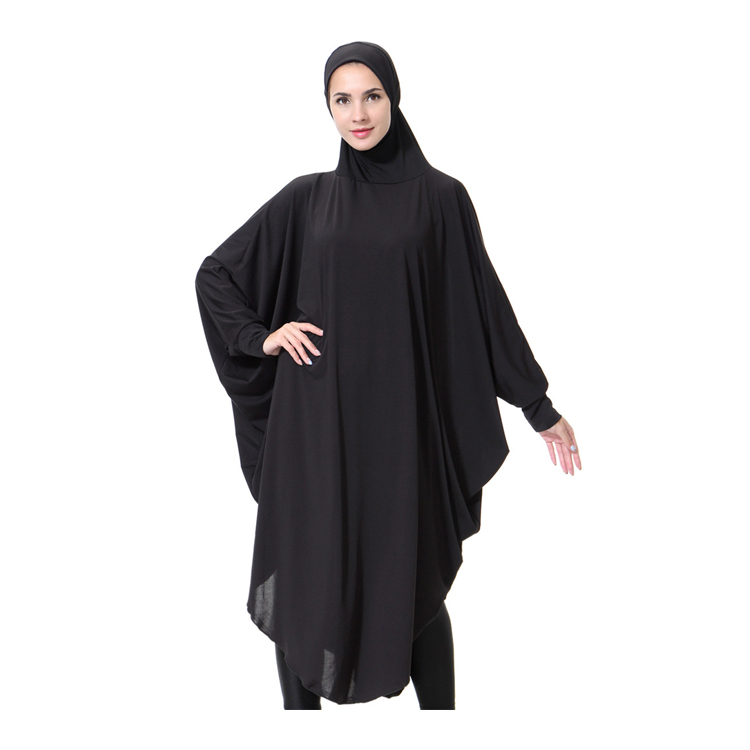 Black arabia women's prayer robes muslim scarf hijab abaya