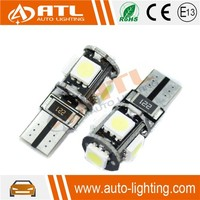 Hot sale T10,BA9S ,12V, CANBUS car led light 9006 3w with 5smd 5050