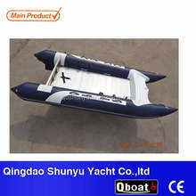(CE)pvc material 4.3m 6 persons inflatable zapcat boat for sale