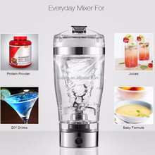 Small Order Li-lon stirring vortex mixer shaker 600ml automatic custom electric body supplements protein water bottle