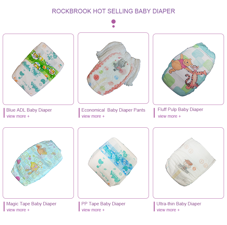 Custom super soft Europe Vietnam disposable cotton adult baby printed diapers