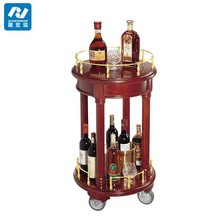 liquor service trolley/wooden bar trolley