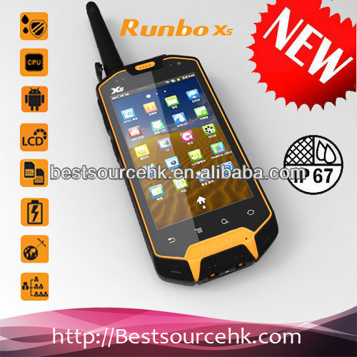 Walkie Talkie Professional Waterproof Dustproof and ShockProof for Outdoor Sports Android Mobile Phone