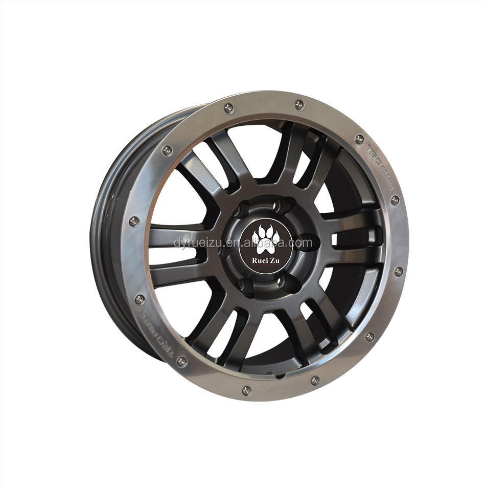 Machined silver rim car parts alloy aluminum wheel car rim alloy from China