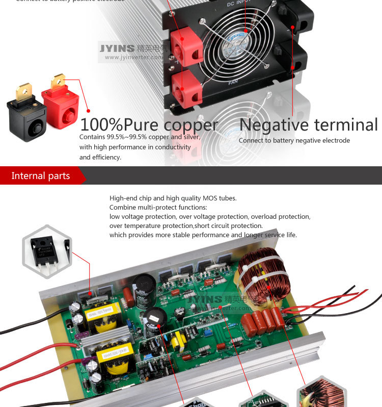 dc/ac power inverter 5000w 24v 230v 5kw