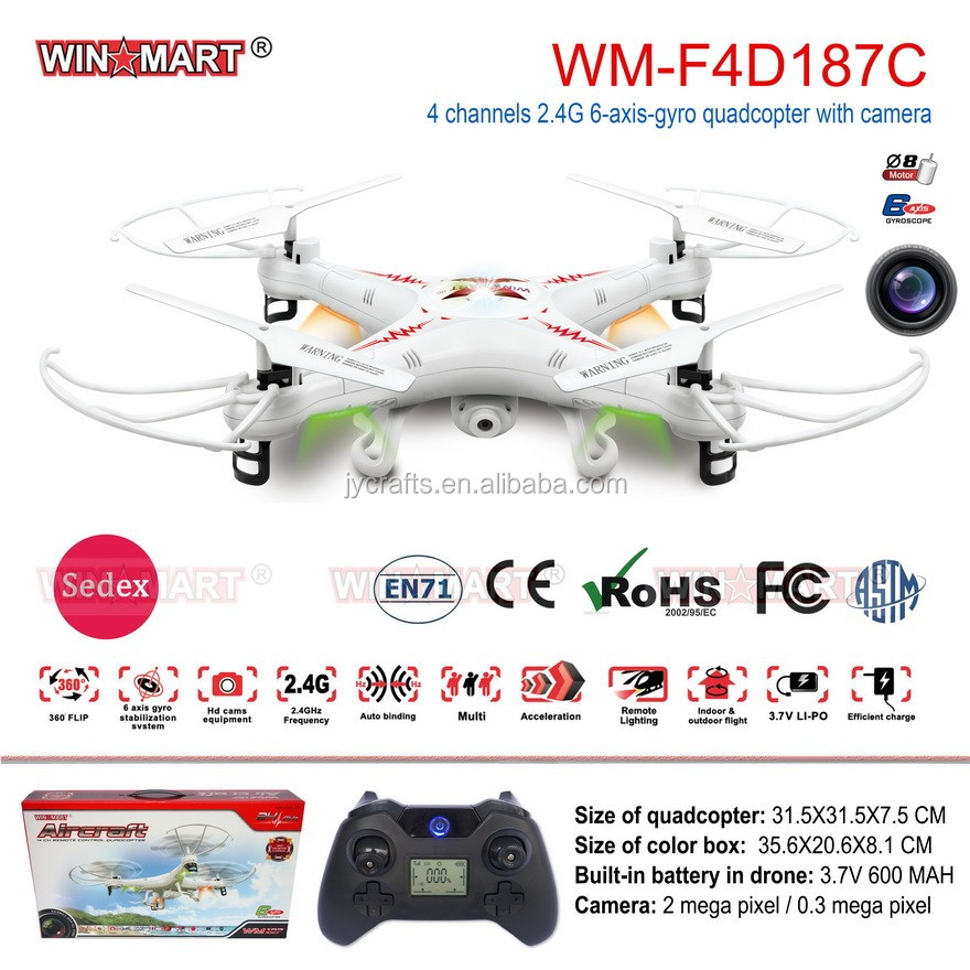 WinMart 2.4Ghz 4ch 6Axis quadcopter helicopter rc with camera