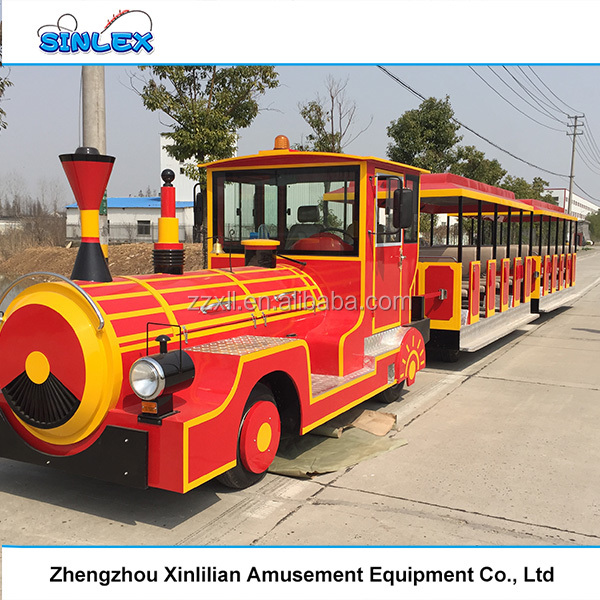 amusement park equipment suppliers playground used trackless land train for sale