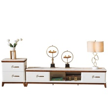 French Style Wooden White Painted Cabinet <strong>Furniture</strong> with 2 Shelf TV Stand With Showcase Wooden Tv Stand