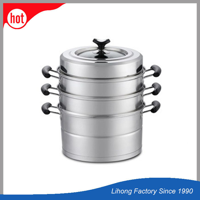 Stainless Steel Four Tier Corn Vegetable Food Steamer Pot