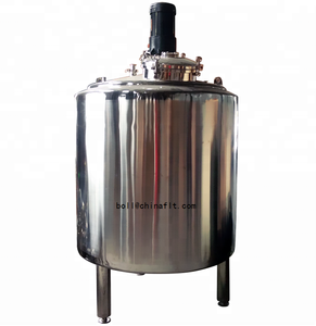 Stainless steel overhead stirrer pharmaceutical liquid sugar syrup mixing tank