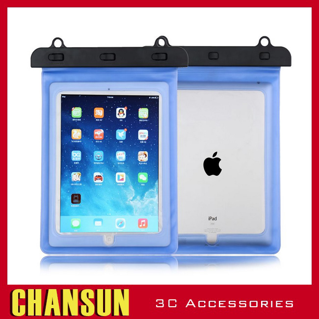 PVC Waterproof Pouch Dry Bag Case Touch Skin For tablet for ipad