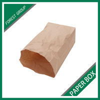 CHEAP PRICE BROWN COATED KRAFT PAPER BAGS FOR PACKING CHIPS