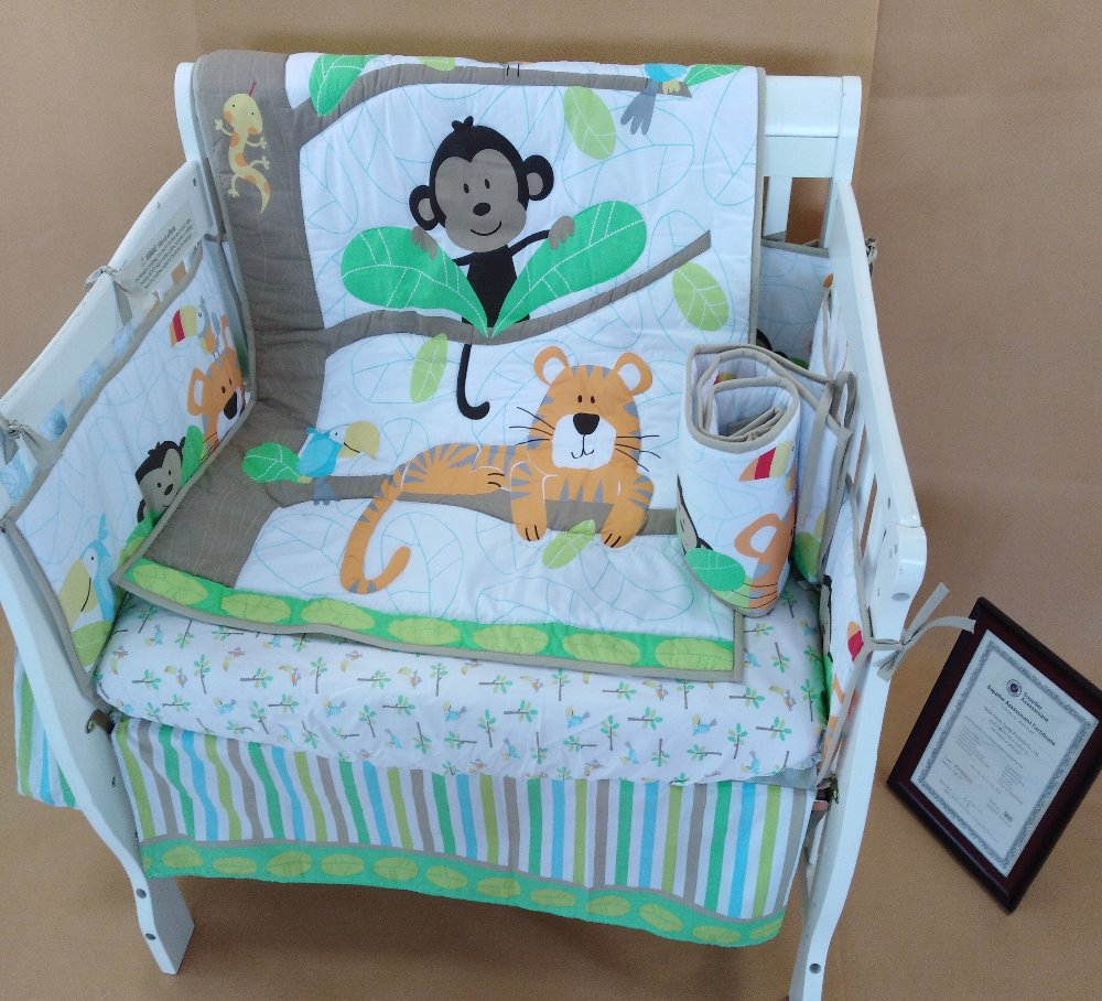2018 nice design in alibaba hot sales baby crib bedding <strong>set</strong>