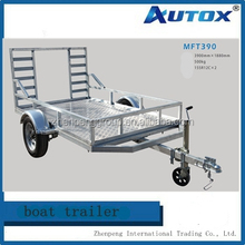 ATV Trailer 6.4 x 12 Landscape Utility Trailer with High Mesh Sides
