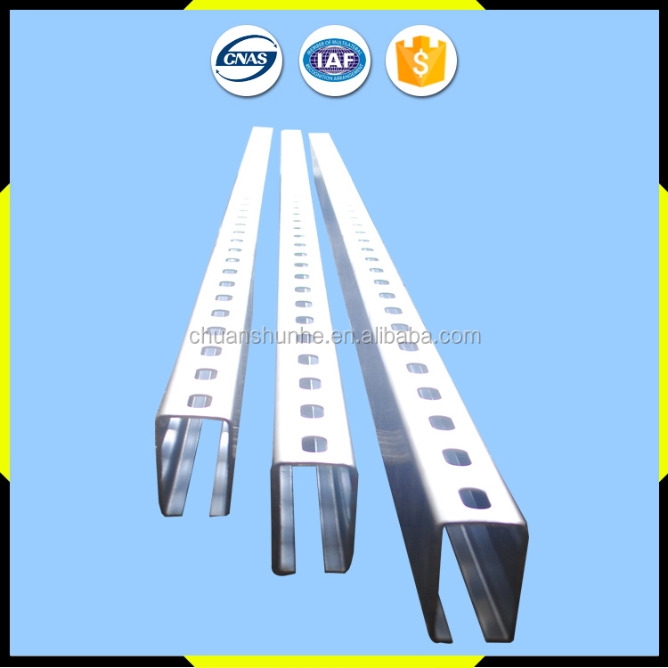 Top quality classical steel sliding roller door channel