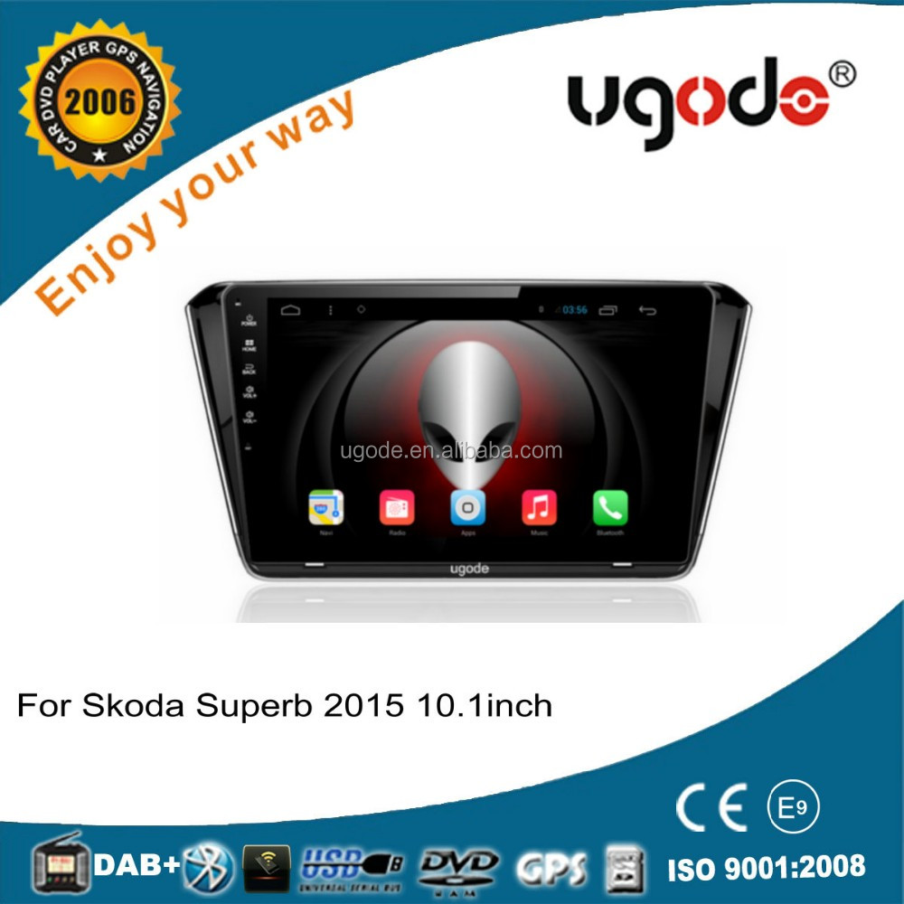 ugode high quality android 4.4 car dvd for skoda superb car navigation 2015-2016