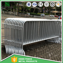 Barricade protecting linking system/Premeir removable steel traffice fence barrier Pedestrian Barrier