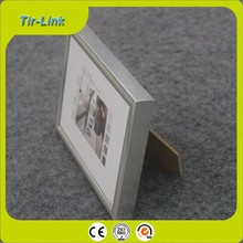 cheap picture frames/family photo frame/silver photo frames PVC photo frame
