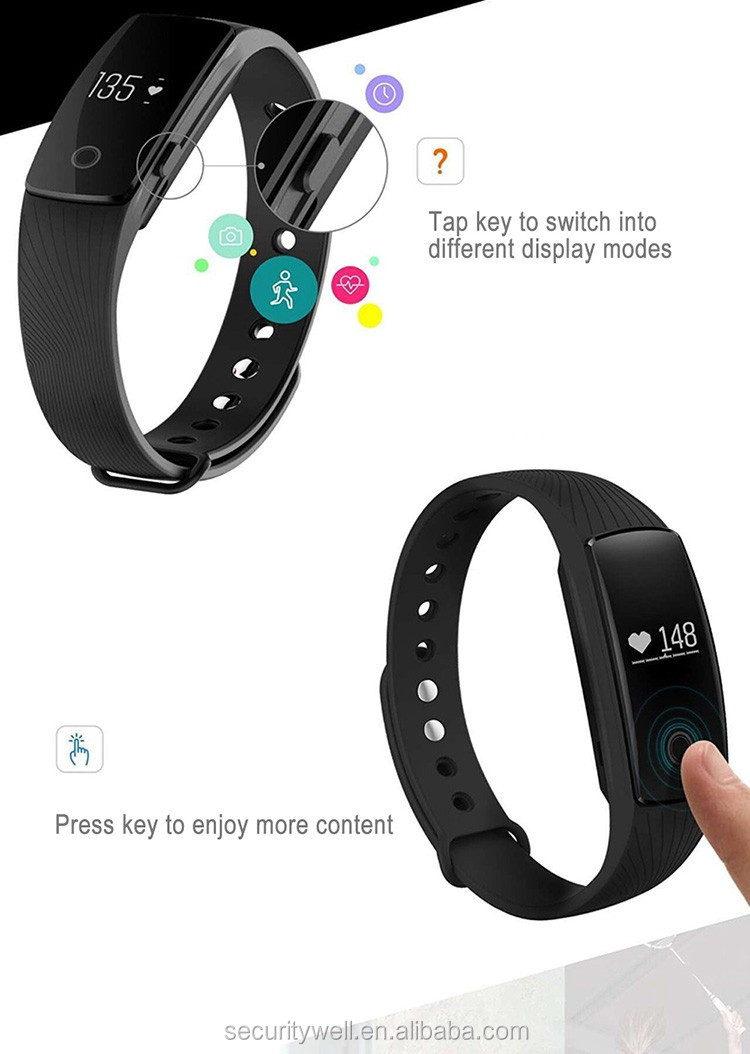 Heart rate monitor Health care Smart wrist band