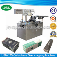 film automatic cellophane over wrapping machine for flexible size