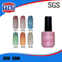 Response Within One Hour Fashion Women Temperature Changing Color Nail Polish