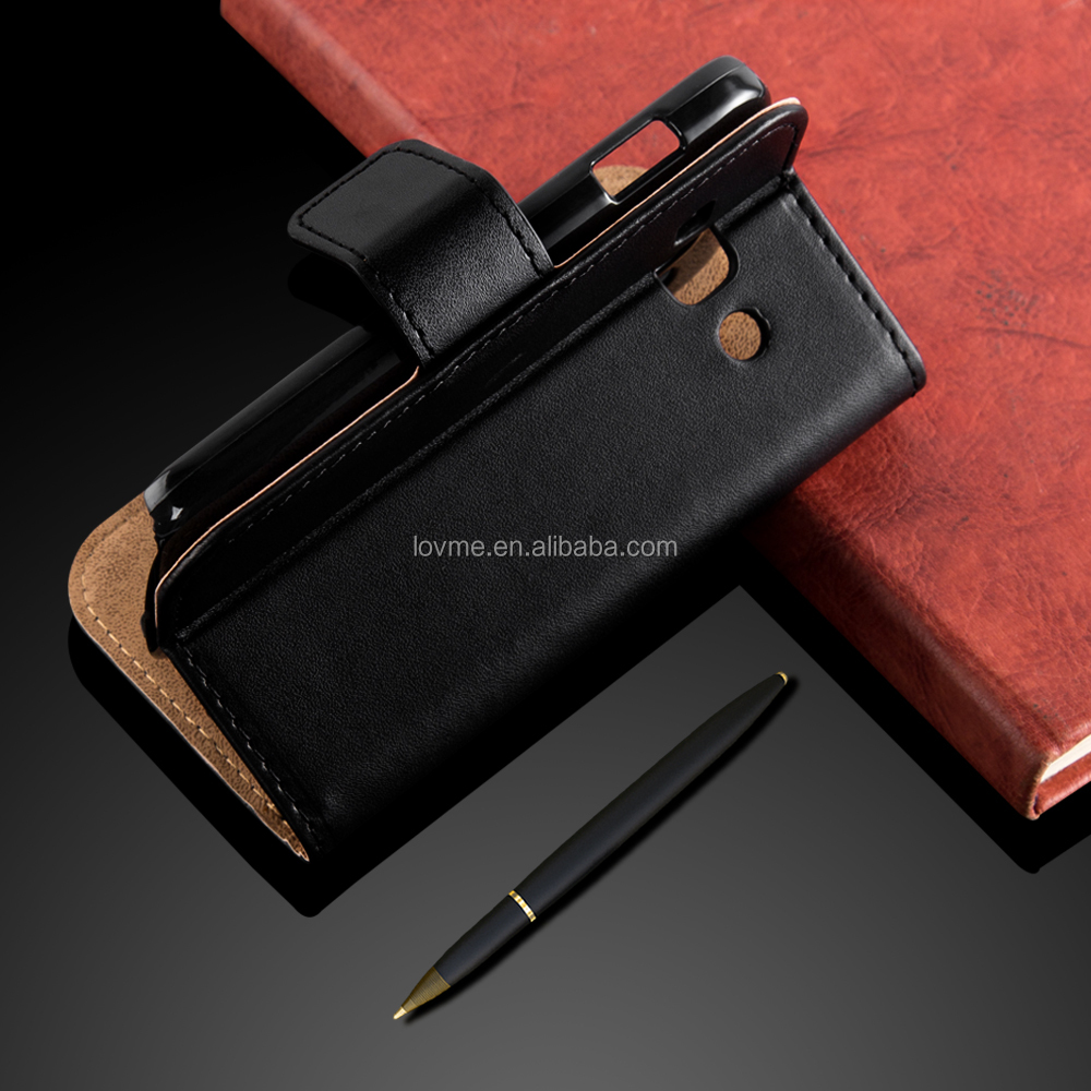 Genuine Leather Mobile Phone Case Cover Stand Case for Samsung Galaxy ACE 3