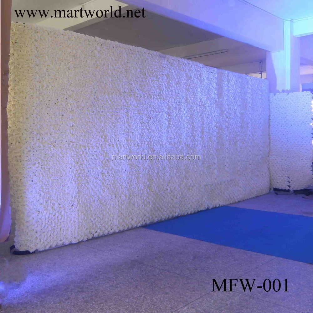 2017 artificial flower wall wedding backdrops flower stand for sale with rose weddings &party &hotel&event decoration(MFW-001)