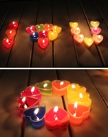 Queena Valentine's Day Exquisite PVC Boxed Heart-Shaped Candles Incense Romantic Courtship Tea Wax Candles