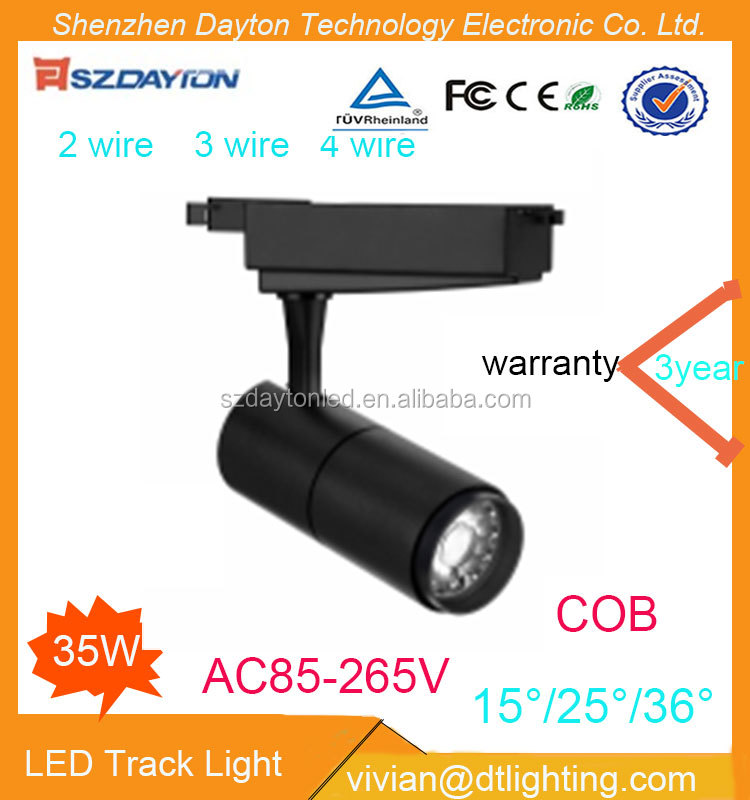 Led jewelry store track light 3 years warranty dimmable spot cri85 high lumen 30w cob led track light rail