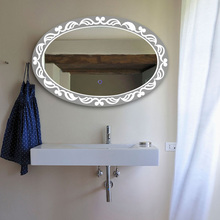 Electric Lighted Wall Mirror Decor Bathroom Mirror Led With Touch Screen