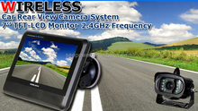 Factory Price Battery Operated 4CH Quad Wireless Backup Camera With 7''TFT LCD Monitor