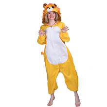 Wholesale Adult Yellow Cute Lion unisex Animal Onesie Jumpsuit Funny costumes for cosplay party