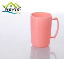 FY-053 PLASTIC COLOR WATER CUP WITH HANDLE TOOTHBRUSH HOLDER CUP BATHROOM ORGANIZER SET
