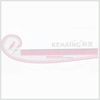 Kearing french curve sewing pattern tailoring tool, Fashion ruler 76 cm & 41 cm